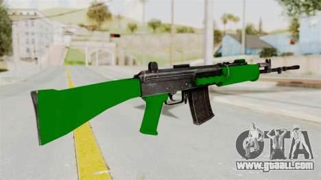 IOFB INSAS Dark Green for GTA San Andreas second screenshot
