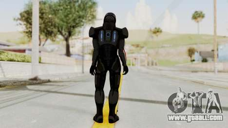Mass Effect 2 Shepard Default N7 Armor Helmet for GTA San Andreas third screenshot