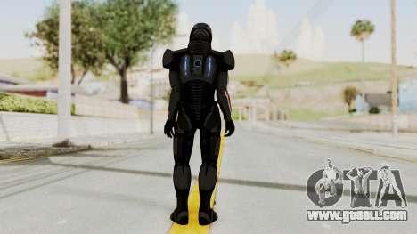 Mass Effect 2 Shepard Default N7 Armor Helmet for GTA San Andreas third screenshot