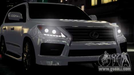 Lexus Lx 570 2014 sport for GTA 4 back view