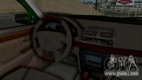 Mercedes-Benz E500 Police for GTA San Andreas inner view