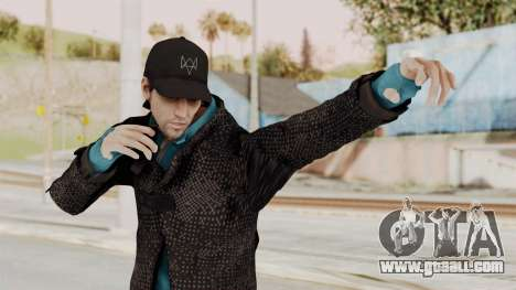 Watchdogs Aiden Pierce DedSec Outfit for GTA San Andreas