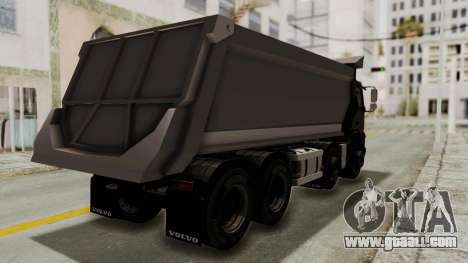 Volvo FMX Euro 5 8x4 v1.0 for GTA San Andreas back left view