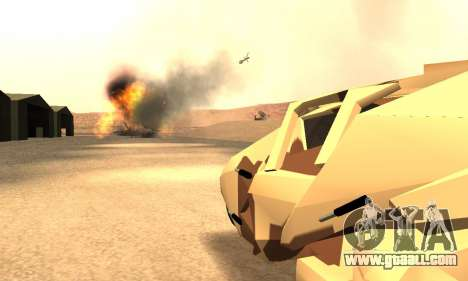Army Tumbler Rocket Launcher from TDKR for GTA San Andreas upper view