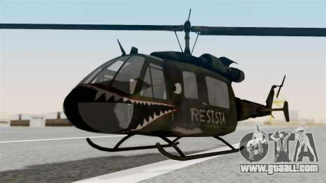 Castro V Attack Copter from Mercenaries 2 for GTA San Andreas right view