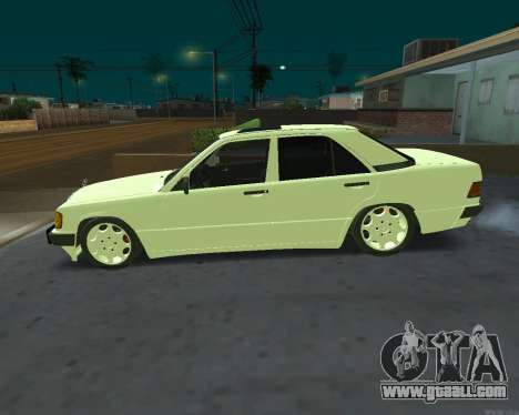 Mercedes-Benz 190E for GTA San Andreas right view