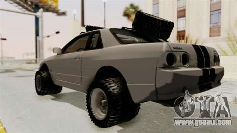 Nissan Skyline R32 Rusty Rebel for GTA San Andreas back left view