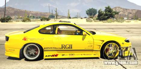 GTA 5 Nissan Silvia S15 Vertex left side view