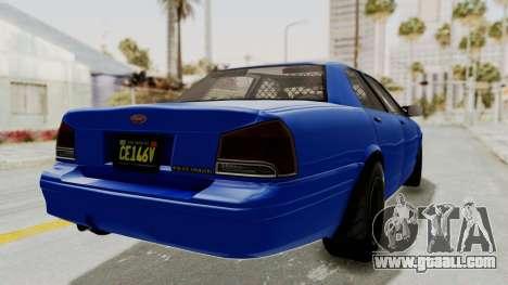 GTA 5 Vapid Stanier II Police Cruiser 2 for GTA San Andreas right view