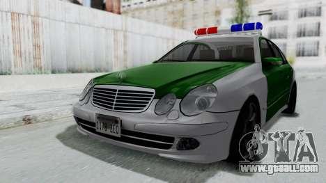 Mercedes-Benz E500 Police for GTA San Andreas right view