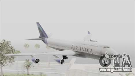Boeing 747-400 Air India for GTA San Andreas back left view