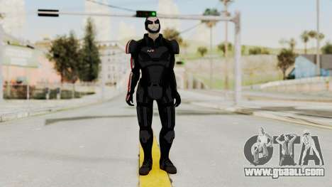 ME2 Shepard Default N7 Armor Delumcore Overlay for GTA San Andreas second screenshot
