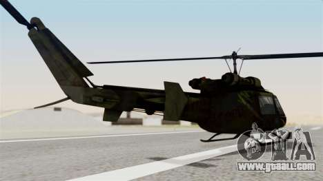 Castro V Attack Copter from Mercenaries 2 for GTA San Andreas left view