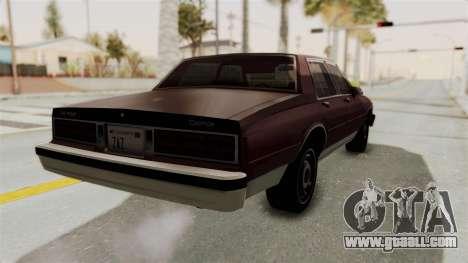 Chevrolet Caprice 1987 v1.0 for GTA San Andreas back left view