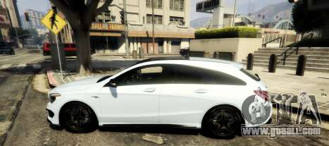 GTA 5 Mercedes-Benz CLA 45 AMG Shooting Brake left side view