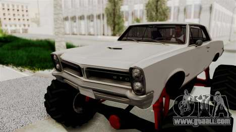 Pontiac GTO Tempest Lemans 1965 Monster Truck for GTA San Andreas back view