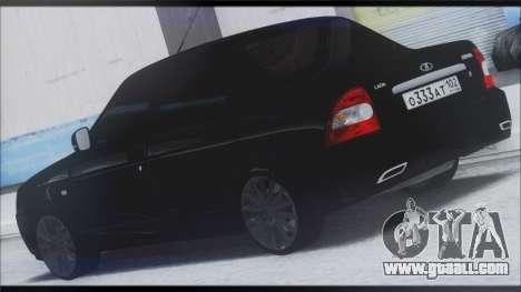 Lada Priora Sedan for GTA San Andreas back left view