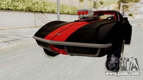 Chevrolet Corvette Stingray C3 1968 Drag for GTA San Andreas