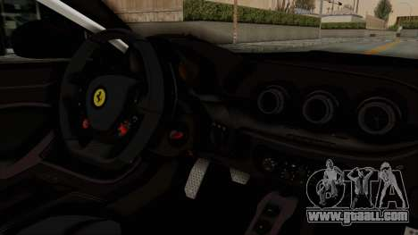 Ferrari F12 Berlinetta Drift for GTA San Andreas inner view
