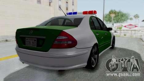 Mercedes-Benz E500 Police for GTA San Andreas left view