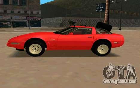 Chevrolet Corvette C4 for GTA San Andreas left view