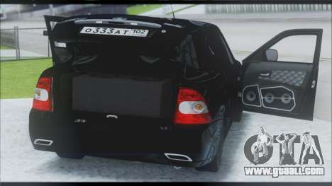 Lada Priora Sedan for GTA San Andreas inner view