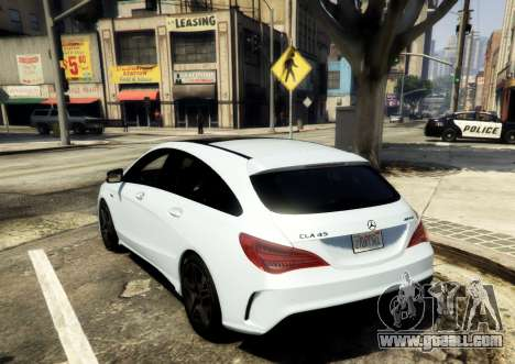 GTA 5 Mercedes-Benz CLA 45 AMG Shooting Brake rear left side view