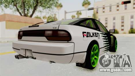 Nissan 240SX Drift Monster Energy Falken for GTA San Andreas right view