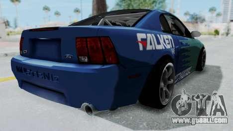 Ford Mustang 1999 Drift Falken for GTA San Andreas back left view