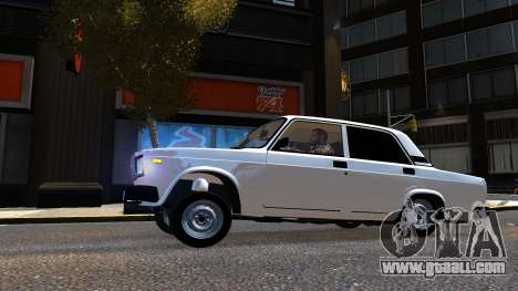 VAZ 2107 AzElow for GTA 4 left view