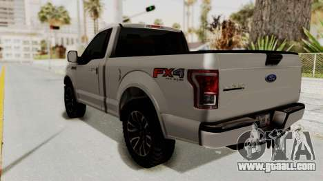 Ford Lobo XLT 2015 Single Cab for GTA San Andreas left view