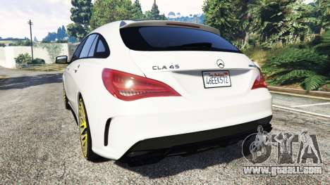 GTA 5 Mercedes-Benz CLA 45 AMG [HSR Wheels] rear left side view