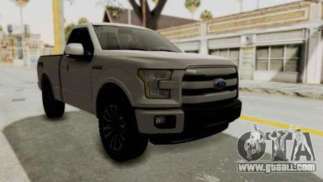 Ford Lobo XLT 2015 Single Cab for GTA San Andreas right view