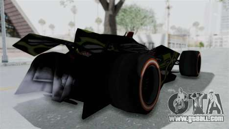 Bad to the Blade from Hot Wheels for GTA San Andreas back left view