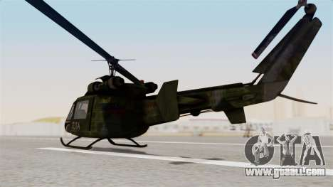Castro V Attack Copter from Mercenaries 2 for GTA San Andreas back left view