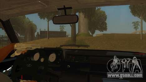 VAZ 2105 Combat Classics for GTA San Andreas inner view