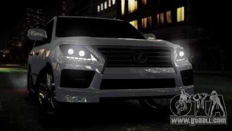 Lexus Lx 570 2014 sport for GTA 4 right view