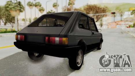 Fiat 147 Spazio TR for GTA San Andreas back left view