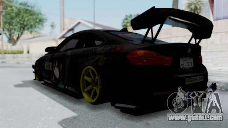 BMW M4 Kurumi Itasha for GTA San Andreas left view