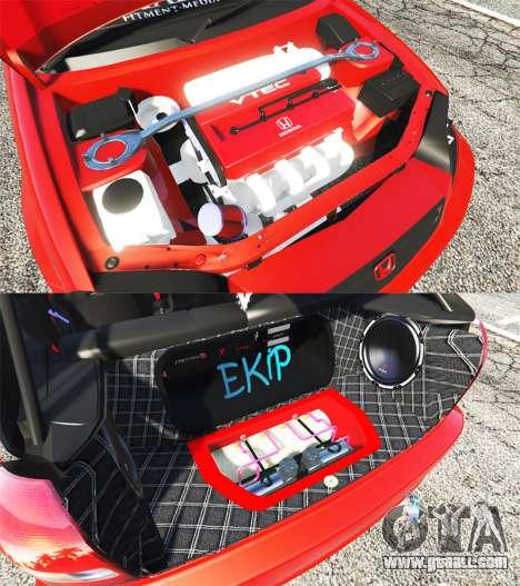 GTA 5 Honda Civic right side view