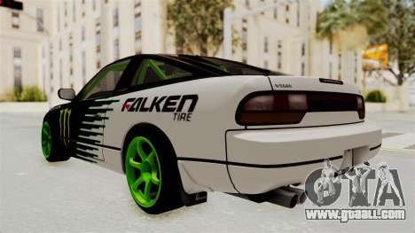 Nissan 240SX Drift Monster Energy Falken for GTA San Andreas left view