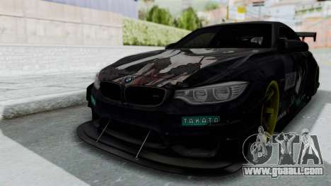 BMW M4 Kurumi Itasha for GTA San Andreas back left view