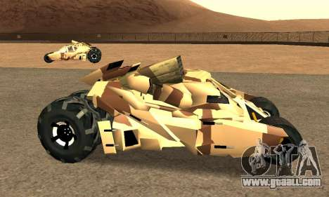 Army Tumbler Rocket Launcher from TDKR for GTA San Andreas right view
