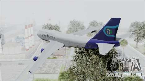 Boeing 747-400 Air India for GTA San Andreas left view