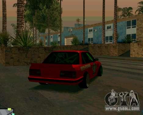 BMW E30 Drift for GTA San Andreas back left view