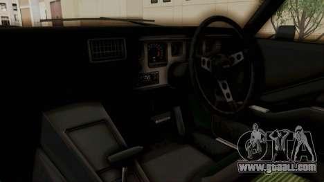 Holden Monaro GTS 1971 SA Plate HQLM for GTA San Andreas back view