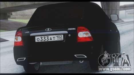 Lada Priora Sedan for GTA San Andreas upper view