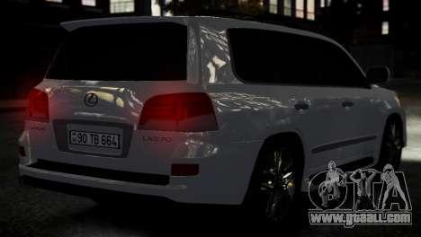 Lexus Lx 570 2014 sport for GTA 4 back left view