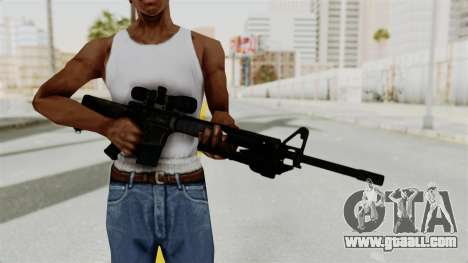 M16 Sniper for GTA San Andreas third screenshot