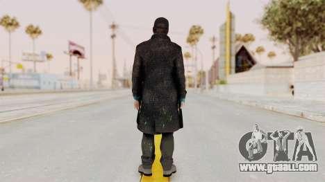 Watchdogs Aiden Pierce DedSec Outfit for GTA San Andreas third screenshot